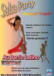 Flyer Salsa au Barrio